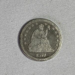 1877 Seated Liberty Quarter Carson City CC 25 Cents US Mint Silver Coin