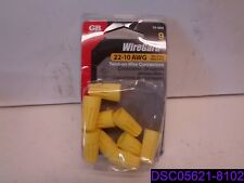 Qty= 63 (7 Packs x 9): Gb Wiregard Twist On Wire Connectors 22-10 Awg P/N 19-004