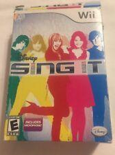 Wii Disney Sing It Karoake Game & Microphone Bundle