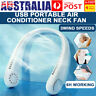 Portable USB Leafless Neck Fan Cooler Rechargeable Dual Effect Cooling Neckband