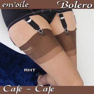 RHT seamless Bolero stockings by Envoile, brown, French vintage style 100% nylon