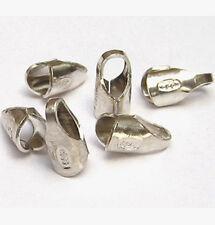6x Endkappen 2 mm 925 Silber  Schmuck- Zubehör Endhülsen Kappen Hülsen basteln