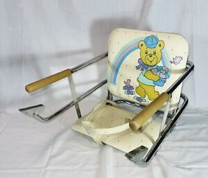 Vintage Graco Tot Loc Lock Clip On Table Top High Chair Booster Seat 1980s bear