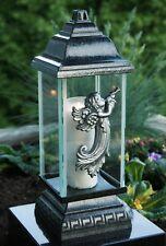 Engel Grablaterne Grablampe Grableuchte Grabschmuck in Silber inkl. Grablicht