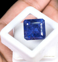 17.14 Cts Natural Loose Tanzanite Lusturous Blue Top Quality Certified Gemstone