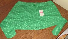 NEW WITH TAGS LOLA GREEN DOT SHORTS SZ 9 Super Cute Tie 100% Cotton Cool Womens