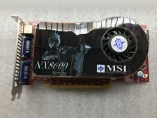 MSI GeForce NX8600GTS NVIDIA GPU Graphics Video Card Great Condition Free Ship!