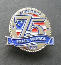PEARL HARBOR DECEMBER 7 1941 75TH ANNIVERSARY LAPEL PIN BADGE 1 INCH