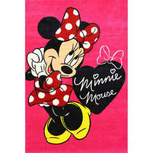 kids rug 133 x 200 cm Minnie mouse bow pink Baby rug Non-slip