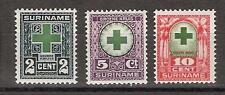 Suriname nr 127 - 129 MLH ong. Groene Kruiszegels 1927