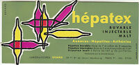 Buvard vintage Hépatex laboratoires Evans