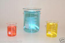 Beaker Set 600 100 50 Ml Griffin Graduated Borosilicate Glass Beakers New