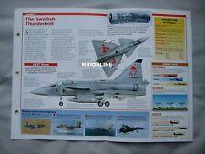 Aircraft of the World Card 50 , Group 5 - Saab JA 37 Viggen