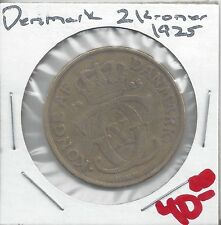 From Show Inv. - A NICE OLDER KEY DATE 2 KRONER COIN from DENMARK DATING 1925