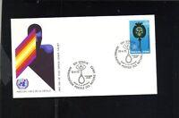 FIRST DAY ISSUE 1973 GENEVA SWISS UNITED NATIONS ARRETONS LABUS DE LA DROGUE