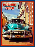 Cuba Cuban Havana Island Habana Caribbean Travel Art Advertisement Poster