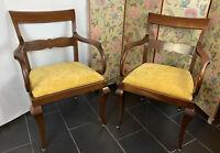 Ein Set Gross Biedermeier Antiker Armlehnen Stuhl