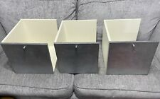 ❤️IKEA EXPEDIT Kallax Silver Glitter Insert With Door Cube Storage Cupboard x3