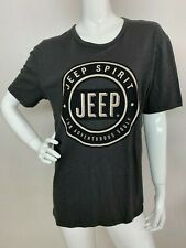Lucky Brand Women's New Size M Cotton Gray Jeep Logo T-Shirt Tee Top Blouse NWT