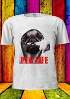 Funny Mustage Dog Pug Life Moustache T-shirt Vest Tank Top Men Women Unisex 1446