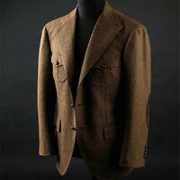 Herren Braun Wolle Blazer Jagd Sport Geschäft Tweed Smoking Outwear Sakko Anzüge