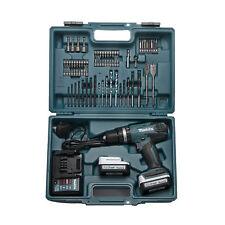 Makita HP347DWEX3 14.4V Li-ion G-Series Cordless Combi Drill + 74 Accessories