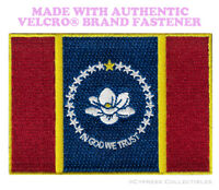 MISSISSIPPI FLAG PATCH EMBROIDERED 2020 new MAGNOLIA w/ VELCRO® Brand Fastener
