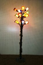 Glass art deco floor lamps ebay french reproduction art deco wrought iron floor lamp blown glass shades 1 aloadofball Images