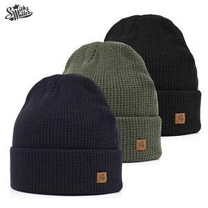 Smith & Miller Mütze Nietos Beanie Wollmütze Strickmütze Blau Olive Schwarz Top