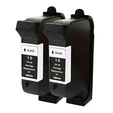 2 HP 15 C6615DN Black Ink Cartridge for Deskjet 810 812C 500 Printer