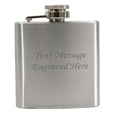 Personalised 3oz Hip Flask Wedding Gift for Men Whisky Godfather FREE Engraving