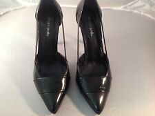 Maripe Womens' Size 6.5M Black Leather/Patent Leather High Heeled Pump Shoes EUC