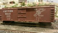 Train Miniature HO Cotton Belt 40'  Steel X-29 Boxcar, Upgraded, Ex