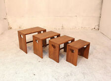 Ercol Less than 60cm Height Solid Wood Nested Tables