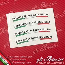 Set 4 Adesivi Cerchi Marchesini FORGED MAGNESIUM fondo trasparente