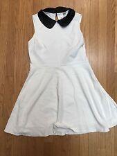 Forever 21 White Dress Leather Collar Women's Size Medium  Bridal