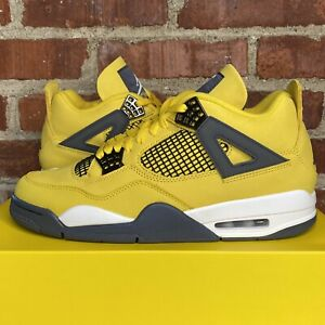 2021 Nike Air Jordan 4 Retro Lightning Yellow Men's Size 10.5 (CT8527-700) - NEW
