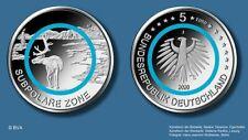 5 Euro Deutschland 2020 bfr Subpolare Zone Klimazonen der Erde Set  A - J