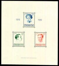 LUXEMBURG 1939 BLOCK3 * Marken daraus POSTFRISCH (I9033c