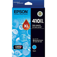 GENUINE Original Epson 410XL Cyan Ink Cartridge Toner XP-530 XP-630 T340292
