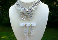 JULIANA Cha CHA Necklace Chandelier Earrings AB Crystal Beads Rhinestone
