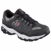 Skechers Men's After Burn Memory Fit Low Top Sneaker Shoes Charcoal Black
