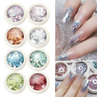 Nail Art Decoration Manicure Hexagon DIY Nail Glitter Sequins 3D Flakes Sparkly