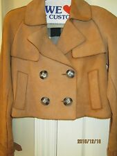BURBERRY BRIT CROPPED SUEDE TRENCH JACKET