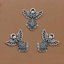 10pcs Antique Silver Wing Angel Beads Pendants for Handmade Bracelet Necklace