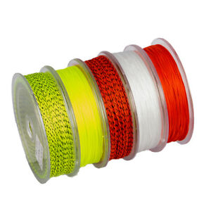 20/30LB Line Backing White Orange Yellow Braided Fly Fishing Trout Line&Loop *hl
