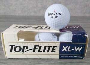 Top Flite XL-W (3) Golf Balls Designed For Women 1994 Vintage Spalding - Unused