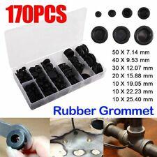 BLACK PVC FLAT BLANKING GROMMETS GB9 9MM HOLE DIAMETER x 25
