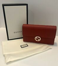 GUCCI Authentic NWT Red Leather Crossbody Bag 510314