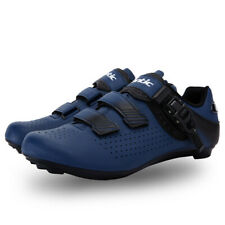 Santic Men Cycling Shoes Breathable Non-slip Palladium Buckle Bicycle Road Shoes